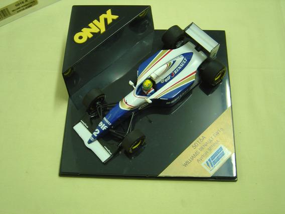 Miniatura Onix 1/24 Ayrton Senna Williams Renault Fw-16