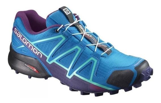 Tênis Speedcross 4 W Salomon - Azul / Roxo