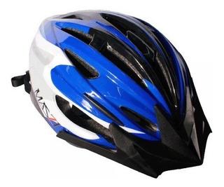 Casco Ciclismo Bicicleta Mazzi Mtb Hb25 Negro Azul - Racer Bikes