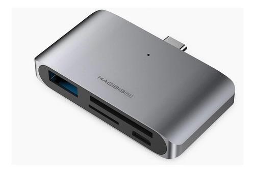 Hub Hagibis Usb C Leitor De Cartões P/ Smartphones Notebooks