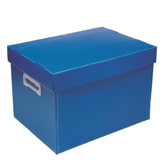 Caixa Organizadora Polionda Azul 24x31x43cm 1 Un Polibras