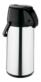 Garrafa Térmica Exclusiva 1,9 Litros Inox E Preto Soprano