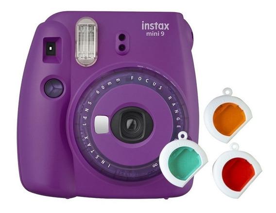Câmera Instantânea Instax Mini 9 Roxo Açai C/ 3 Filtros