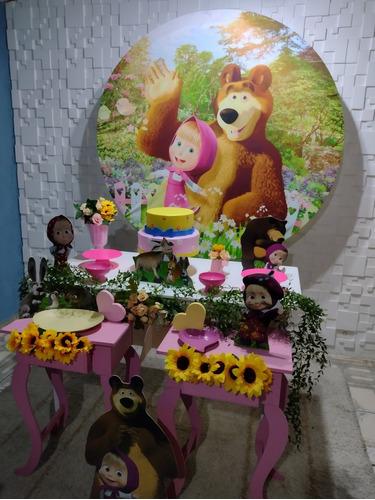 Imagem 1 de 5 de Decoração Marsha E O Urso Serviço De Pegue E Monte