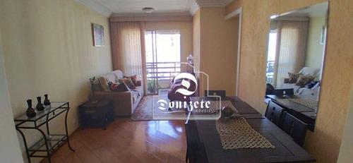 Imagem 1 de 19 de Apartamento Com 3 Dormitórios À Venda, 78 M² Por R$ 405.000,00 - Jardim - Santo André/sp - Ap17479