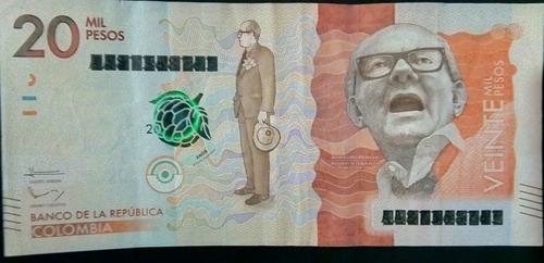 Billete Error $20 Mil Pesos Nueva Familia