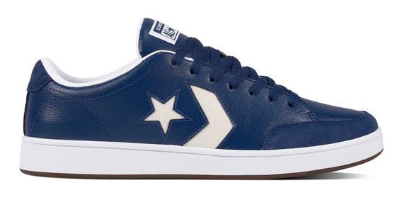 Converse Court Ox Estrella Azul Cuero Urbanas!!! 161612c