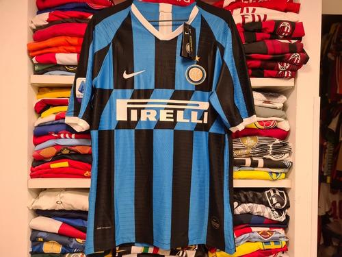 Camisa Internazionale Home 19-20 Lautaro 10 Calcio Jogador