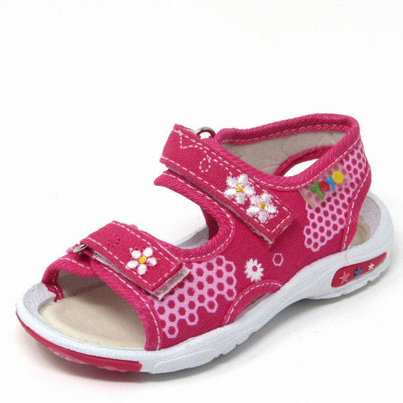 Sandalias Niñas Marca Yoyo S1013 Rosado 19-24 Envío Gratis