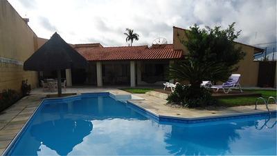 Lindíssima Casa Em Peruíbe!linda Piscina,academia,4 Suítes