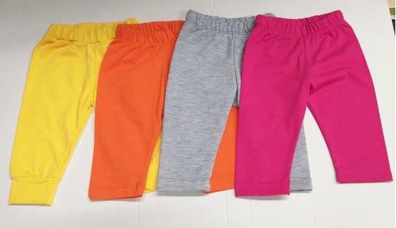 Set De 4 Pantalones De Algodón Para Bebe Niña De 0m A 9m