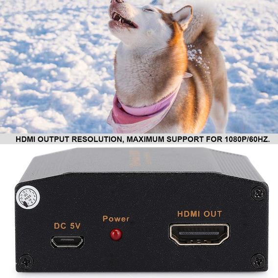 Conversor De Áudio Vga+áudio Para Hdmi 1080p Portátil De