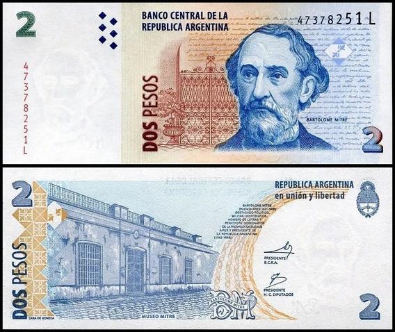 Argentina P-352 Fe 2 Pesos Nd ( 2013 ) Série L * C O L *