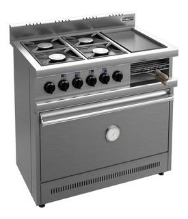 Cocina Industrial Multifunción Brafh Con Plancha Y Carlitera