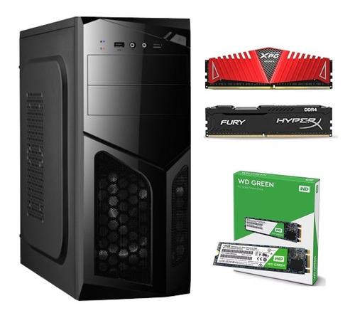 Pc Gamer Amd A8 9600 Apu R7 8gb Ddr4 Ssd M.2 120gb