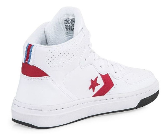 Converse Rival Leather Mid Blanca Mode4491