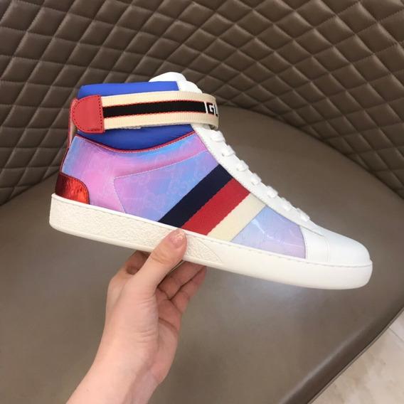 Tênis Ace Gucci Stripe High-top Sneaker 85
