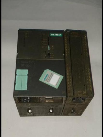 Clp/plc Siemens S7 300 + Cartão De Entrada+cartão De Memória