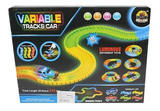 Pista Variable Luminous Luz Gd217 Carros Autos Magic Track