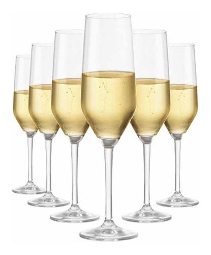 Imagem 1 de 3 de Jogo Taça Ritzenhoff Cristal Champagne  Elegance 260ml 6 Pçs