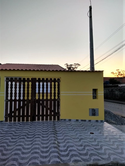 Casa Nova Linda Com 2 Dormitórios Em Terreno Amplo Na Praia