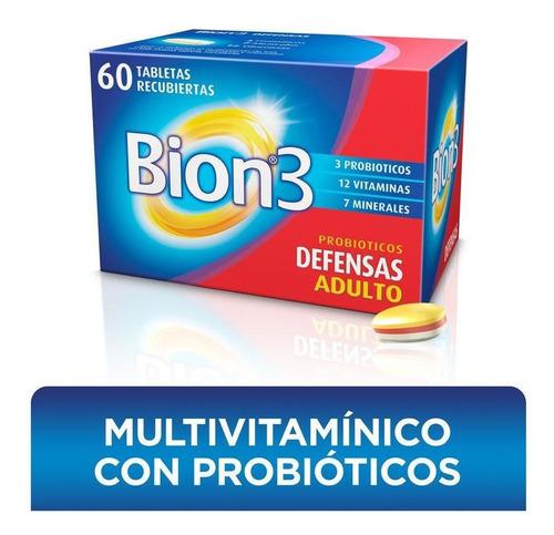 Bion3 Defensas Suplemento Con Vitaminas, Minerales Y Probiót