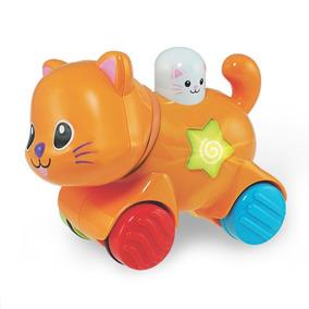 Brinquedo Com Som E Luz Gatinho Deslizante Win Fun 734