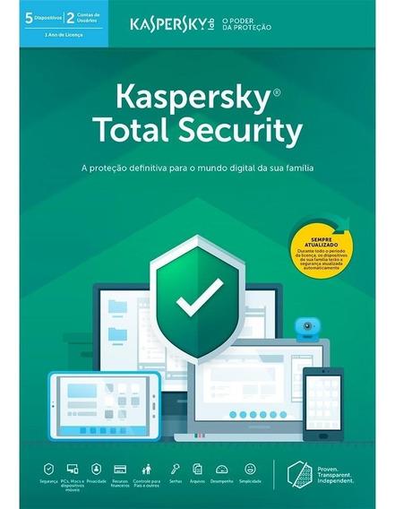 Kaspersky Antivírus Total Security 2019 1pc 1 Ano