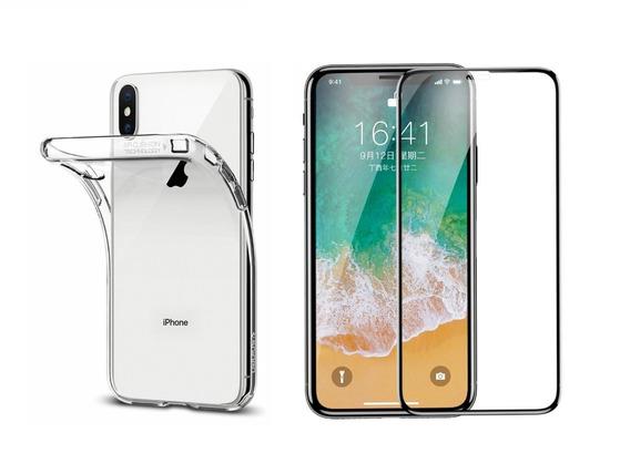 Película Nano 5d Gel + Capa iPhone 6 6p 7 8 8p X Xr Xs Max