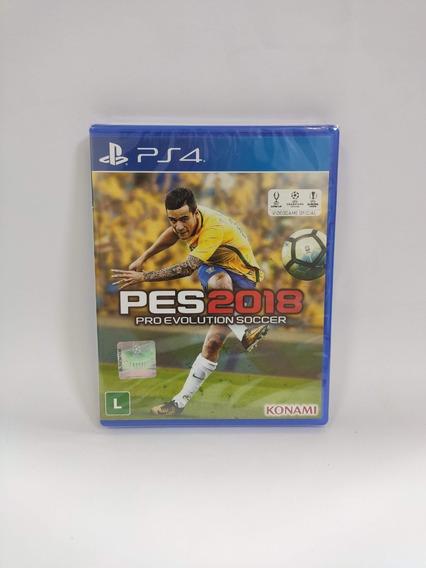 Pes 2018 Pro Evolution Soccer Ps4 Mídia Física Novo Lacrado
