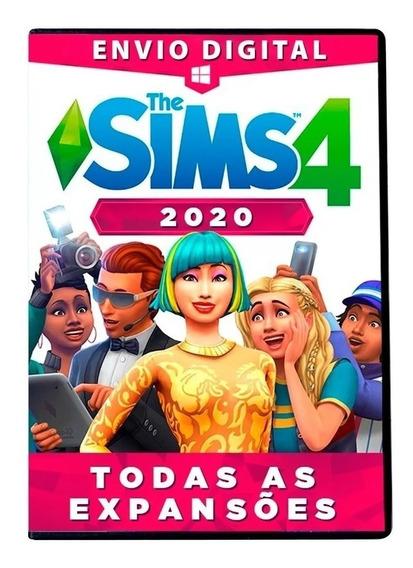 The Sims 4 Completo, Todas Expansões Pacotes Objetos Digital