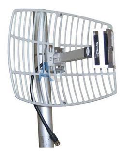 Antena Grillada Wifi De 16 Dbi 2.4 Mhz High Performance