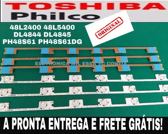 Kit 6 Barra 48l2400 48l5400 Dl4844 Dl4845 48l2400v2 Dl4844af