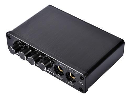 Mezclador De Audio Mini Consola De Mezcla Estéreo Con Entrad