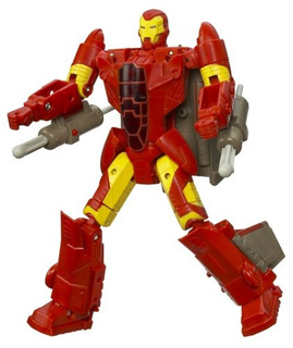 Marvel Transformers Crossovers Fighter Jet Para Iron Man Red