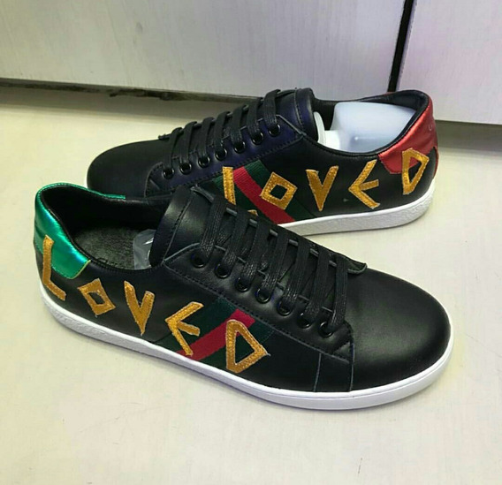 Tênis Gucci Ace Loved Preto Premium (35 Ao 42)