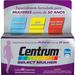 Centrum Select Mulher 60 Caps Luteina + Licopeno + Vitaminas