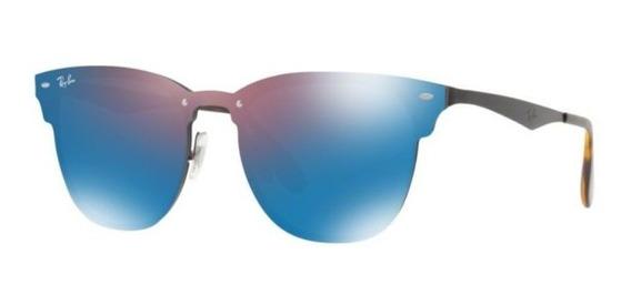 Oculos Sol Ray Ban Blaze Clubmaster Rb3576n 153/7v 47mm