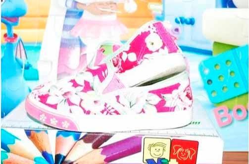 Bellos Zapatos Floreados De Tela Para Niña (vendo O Cambi0