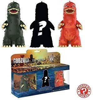 Funko Mystery Minis: Godzilla 3 Unidades, Multicolor