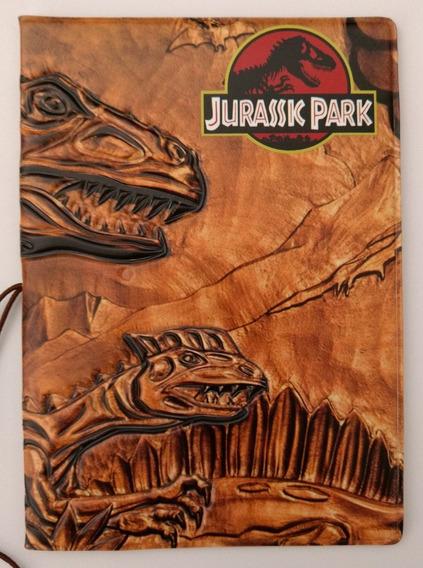 Capa Para Passaporte Pvc Jurassic Park Parque Dinossauros @