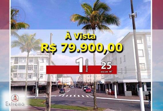 Kitnet Com 1 Dormitório À Venda, 25 M² Por R$ 79.900,00 - Ocian - Praia Grande/sp - Kn0136
