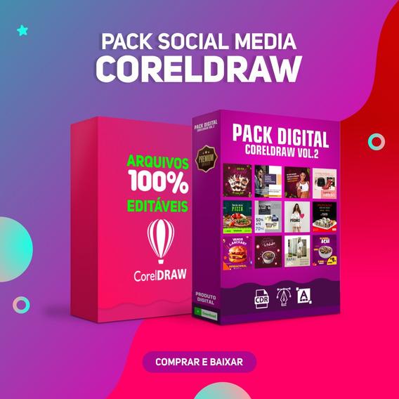Pack Social Midia Em Coreldraw - Vários Segmentos - Redes