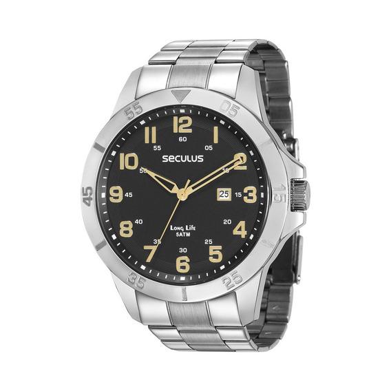 Relógio Masculino Prata Fashion Seculus 28985g0svna1