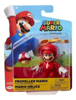Fig Super Mario Mario Helice 10cm Original Jakks Orangegame