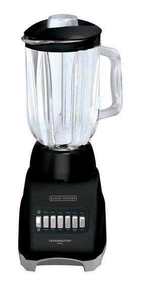 Licuadora Black & Decker 10vel 1.25lt Vaso De Vidrio Negro