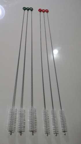 Escova Para Limpeza De Canulados Em Aço Inox Cerdas Em Nylon