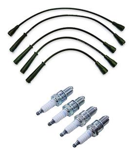Kit Cables + Bujias Fiat 128 Duna Uno Regatta 1.1 1.3 1.5