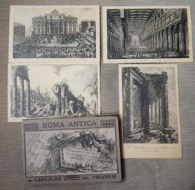 Piranesi 40 Cartões Postais Antigos De Roma Com Embalagem