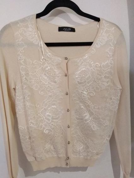 Sweter Color Beige, Marca Julio. Talla S. Hermoso.